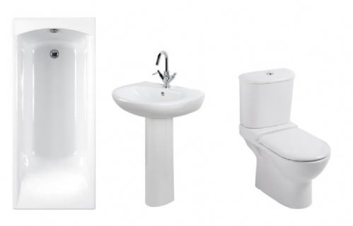 Eastbrook Temptation Bathroom Suite Inc Carron Delta Bath & Panel - Various Sizes